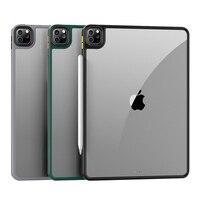 Para iPad Pro 12,9/11 2020 2021 Tablet caso de lujo Ultra delgada a prueba de golpes a prueba suave TPU + acrílico compuesto protectora transparente cubierta