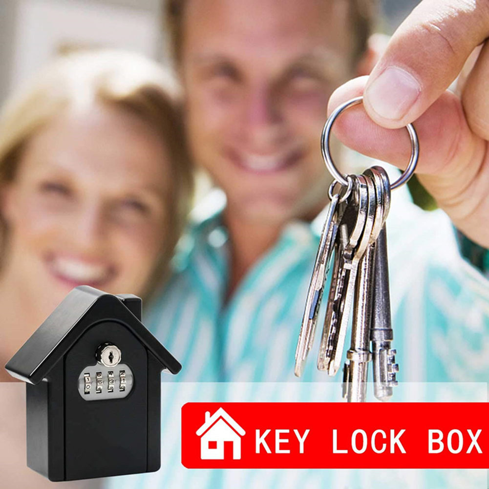 Key Lock Box With Waterproof Case Wall Mount Metal Password Box For Home Business  VH99