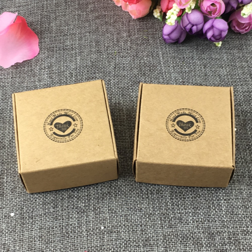 6.5x6.5x3cm avion carton Pack boîtes 100 Pcs/Lot Smart petite taille artisanat cadeau, attache, oreille anneaux Kraft boîtes de papier