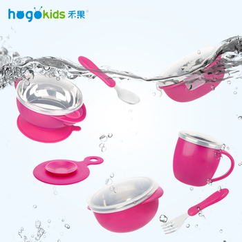 Hogokids Dish Set of Children's Dishes Stainless Steel Bowl Children's Tableware for Feeding Baby Feed Bowl Dinnerware 6 of set 1