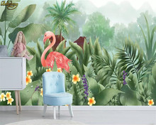 beibehang Custom 3d wallpaper mural medieval hand-painted tropical rainforest flowers and birds background wall papel de parede(China)
