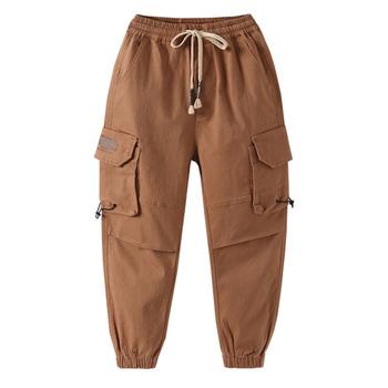Spodnie dla dzieci dla chłopców jesienne zimowe spodnie dla nastoletnich chłopców ubrania dla chłopców kombinezony na co dzień spodnie dla chłopca 8 10 12 14 16 lat tanie i dobre opinie childdkivy COTTON REGULAR Unisex Kieszenie Pełnej długości Pasuje prawda na wymiar weź swój normalny rozmiar Elastyczny pas