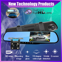 Car Dvr Camera Auto 4.3Inch Rearview Mirror dash cam Digital Video Recorder Dual Lens Registratory Camcorder