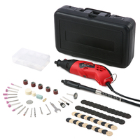 Electric Drill 85Pcs Electric Grinder Drill Set Household Wood Carving Jade Carving Polishing Tool Grinding Rotary Tool Kit