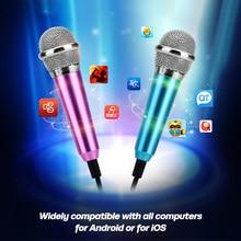 ANKNDO Mini Microphone For Phone 3.5mm Jack Micro Phone Mini Audio Mic for Computer Laptop Mobile Phone Karaoke Singer Amplifier