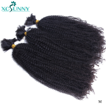 Human-Hair Braiding-Hair-Extensions Bundle Mongolian Xcsunny Kinky Bulk Afro Curly No