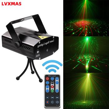 Oświetlenie dyskotekowe LED projektor laserowy 5W 110V ~ 220V ozdoby choinkowe laserowe oświetlenie sceniczne Dj dźwięk oświetlenie imprezowe DJ Show Xmas tanie i dobre opinie LVXMAS CN (pochodzenie) Efekt oświetlenia scenicznego Oświetlenie sceniczne DMX Other Domowa rozrywka