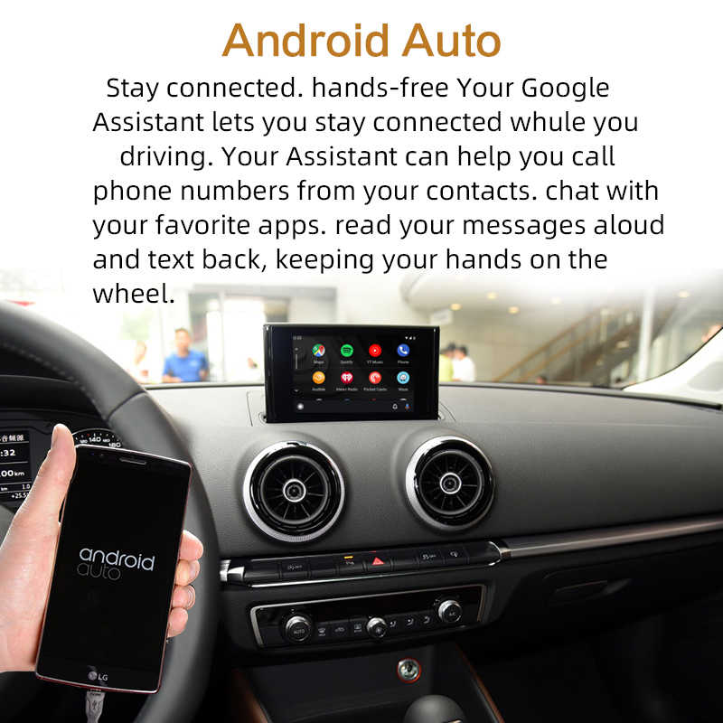 Sinairyu اللاسلكي أبل Carplay الحل لأودي A3 3G/3G MMI مع كاميرا عكسية لأودي