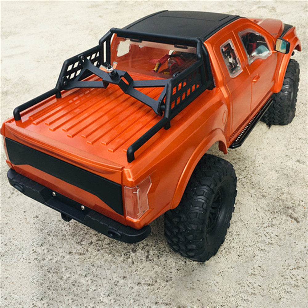 324mm Wheelbase ABS Hard Car Body Shell With Bumper & Spare Tire Rack For Ford Raptor TRAXXAS TRX-4 RC Crawler Car Shell