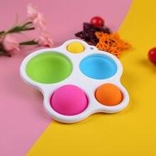 Crianças adulto simples dimple fidget brinquedo pops it anti stress mão iluminação educacional precoce intensivo formação brinquedos