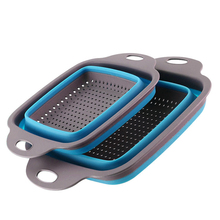 Washing-Basket Kitchen-Tool Vegetable Fruit Foldable Collapsible Silicone Strainer Handle