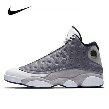Jordan Basketball Shoes Original Nike Air Jordan 13 Retro Atmosphere Grey Mens Shoes High-top Sneakers Women Sports Shoes Boots