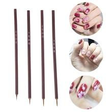 New Small Brush Nail Tools Bamboo Handle Nail Art Painting Brushes Nail Liner Brush DIY Manicure