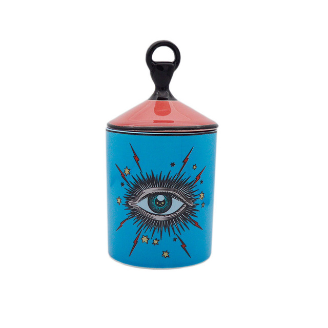 3D Hand Type Decoration Candle Jar Star Eye Candlestick Eye Of Providence Candles Cup Holder Aromatherapy Diy Pot Red Blue 6