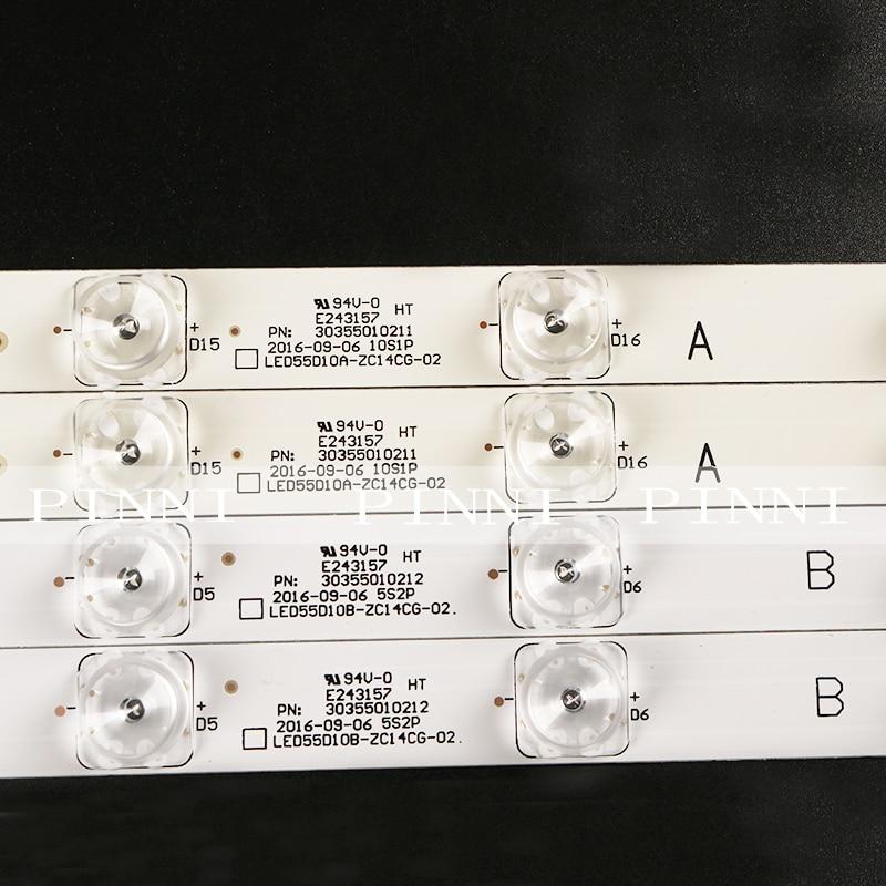 LED Backlight Strip For Original Haier U55H3 LS55H510X LS55A51  LED55D10A/B-ZC14AG-01 1pcs=10lamp 1.7 Cm Wide