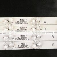 Tira conduzida Luz de Fundo Original Para Haier U55H3 LS55H510X LS55A51 LED55D10A/B-ZC14AG-01 1pcs = 10 lâmpada 1.7 Centímetros de largura
