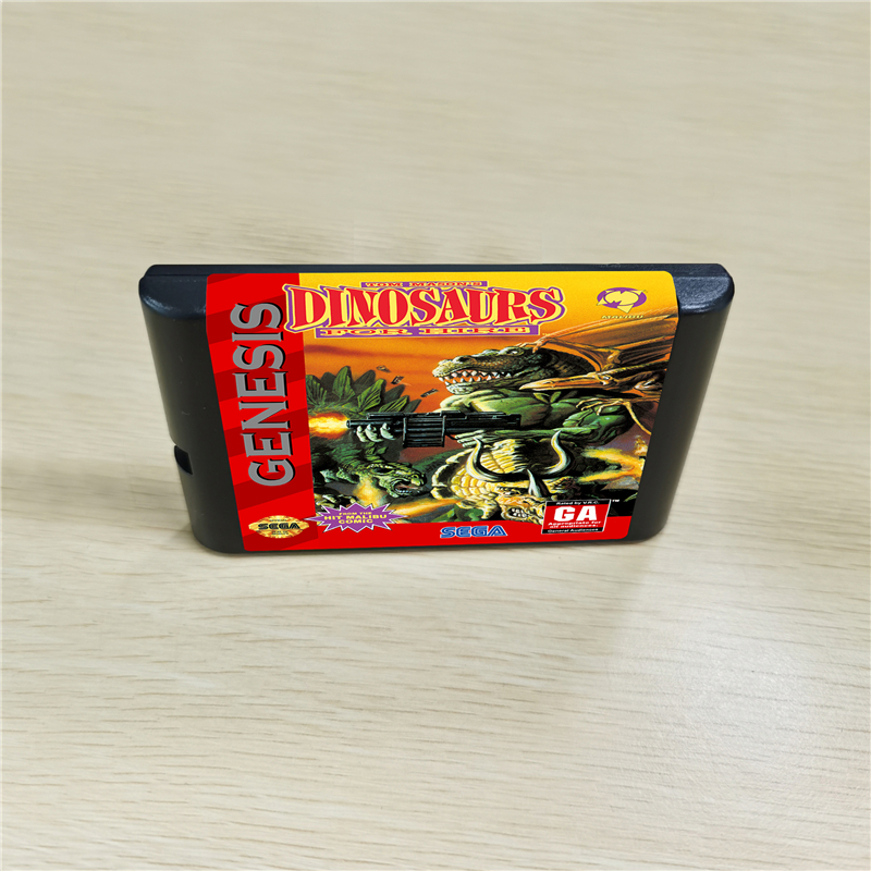 Dinosaurs For Hire - 16 Bit MD Games Cartridge For MegaDrive Genesis Console