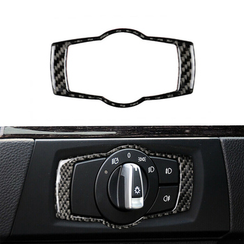 Carbon Fiber Headlight Switch Frame Trim *1 For BMW 3 Series E90 E92 E93 2005 image