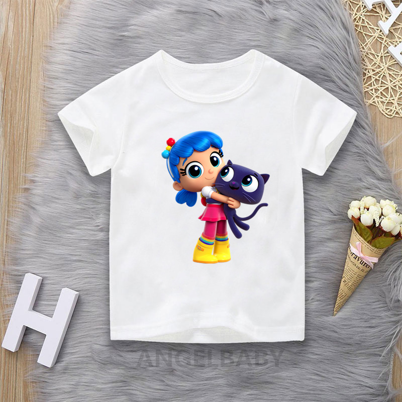 True and the Rainbow Kingdom Cartoon T shirt For GIrls Summer Kids Tops Baby Boys Clothes Funny Children T-shirt 1