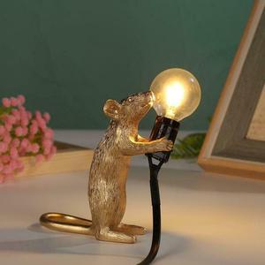 Image 4 - Dreamburgh Nordic Resin Animal Rat Mouse Table Lamp Small Mini Mouse Cute LED Night Lights Home Decor Desk Lights Bedside Lamp
