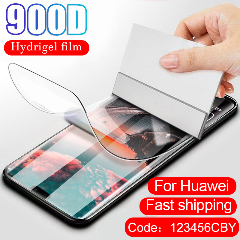 900D Screen Protector Hydrogel Film For Huawei P20 P30 Lite Pro Protective Film For Huawei Mate 20 30 Lite Pro Film Not Glass