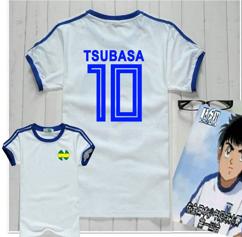 High Quality Nice Loverly Gift Kid Youth Shirts, Camiseta Oliver Atom Japan , Captain Tsubasa Jerseys,football Cotton Clothes