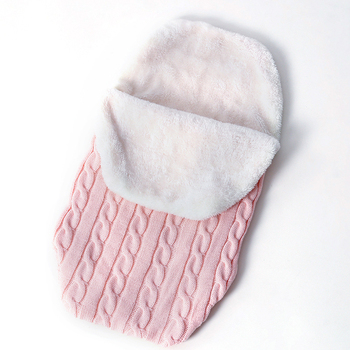 Warm Baby Blanket Soft Baby Sleeping Bag Footmuff Cotton Knitting Envelope Newborn Swaddle Wrap Sleepsacks Stroller Accessories 2