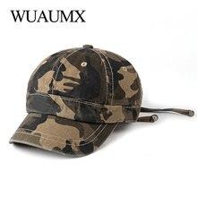 Wuaumx Spring Baseball Caps Men Women Snapback Hat Korean Vintage Outdoor Streetwear Hip Hop Cap Camouflage Cotton gorras