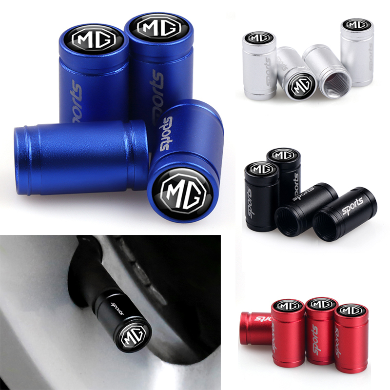 4Pcs Car Sports Wheel Stem Covers Tire Valve Caps For MG ZS GS 3 5 6 7 350 550 ZT Orkina GT TF 3SW MORRIS GARAGES Accessories