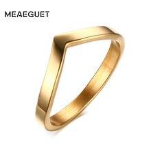 Простое v образное кольцо с шевроном для вечерние модные ювелирные