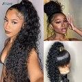 360, парик на сетке спереди, парик на сетке спереди, парик из прямых человеческих волос, бразильский парик на сетке без повреждений, предварит...