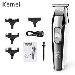 Tondeuse sans fil tondeuse à cheveux électrique professionnelle affichage LCD 0mm barbe à baldaquin tondeuse à cheveux pour hommes bricolage Machine de coupe 35D