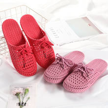 Mode Ademende Schoenen Vrouwen Sandalen Dames Strand Sandalen Hollow Out Casual Outdoor Waterdichte Slippers Flats Strand Schoenen Boog(China)