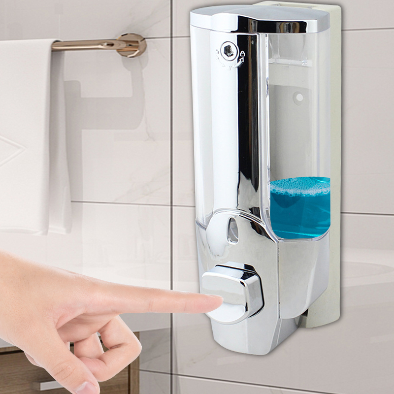 Two-in-one Soap Dispenser Large-capacity Hotel Soap Dispenser Shampoo Shower Gel Plastic Box Family Bathroom Soap Dispenser