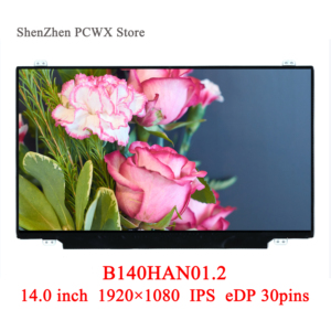 Image 1 - 04X0436 B140HAN 01,2 für thinkpad T440S Lenovo 14,0 Laptop LCD LED Display FHD 1920*1080 AUO Marke Panel IPS 30pin eDP 72% Farben