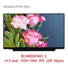 04X0436 B140HAN01.2 Voor Thinkpad T440S Lenovo 14.0 Laptop Lcd Led Display Fhd 1920*1080 Auo Merk Panel Ips 30pin edp 72% Kleuren