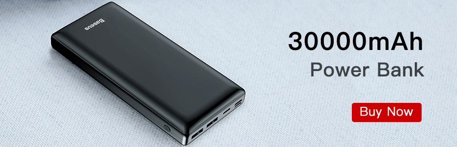 Baseus 30000mAh power Bank USB C PD 3,0 Быстрая зарядка+ быстрая зарядка 3,0 Портативный внешний аккумулятор для ноутбука samsung power bank