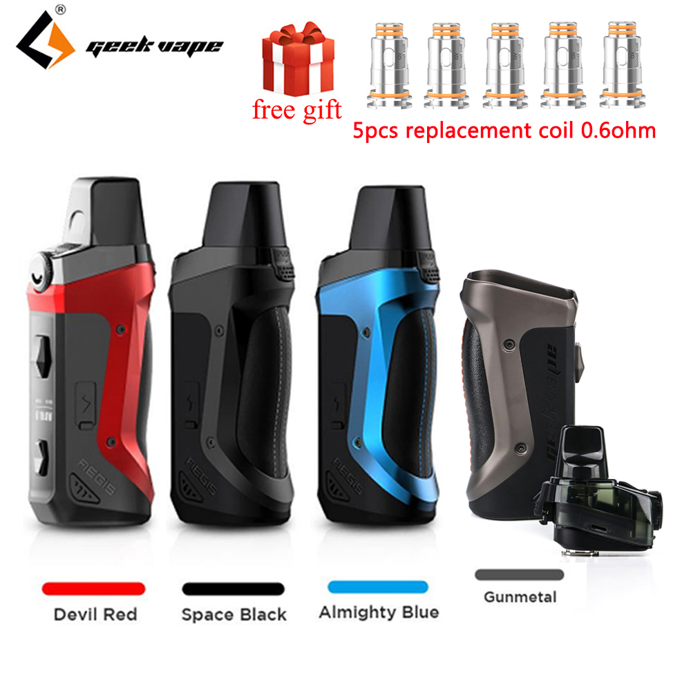 GeekVape Aegis Boost Pod Vape Kit 1500mah Built-in Battery & 3.7ML Atomizer MTL DTL E-cig Aegis Boost Vape Kit Vs Vinci