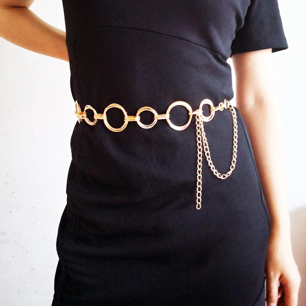Women Decorative Belt Fashion Metal Female Waist Chain Women Dress Accessories