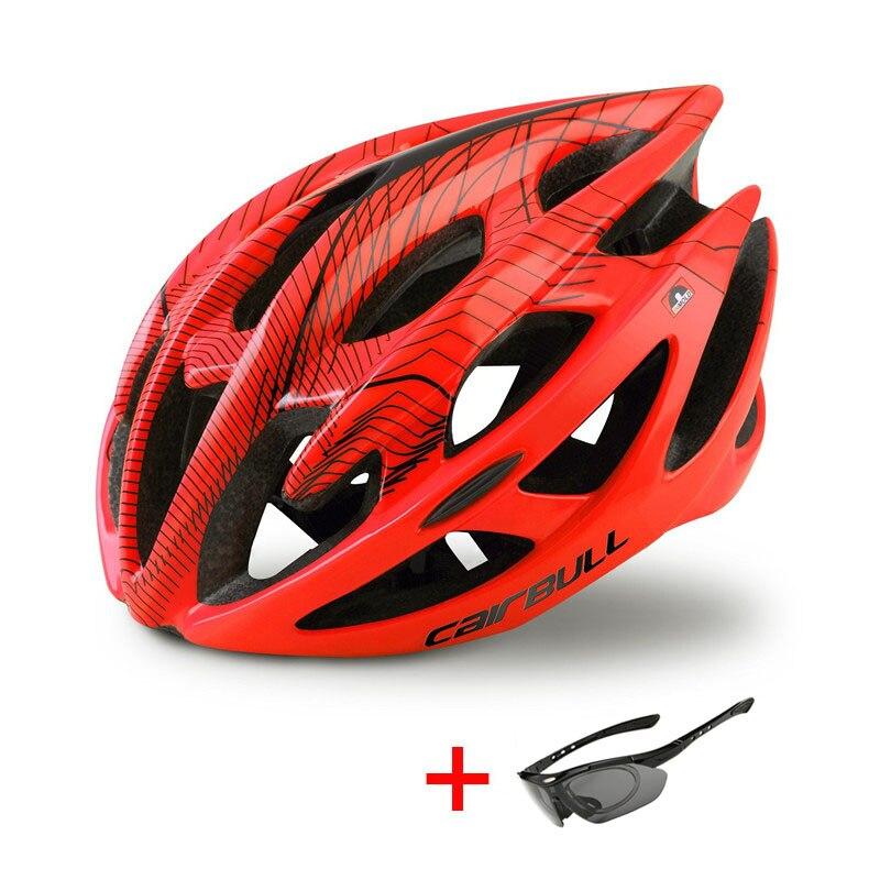 Ultralight Mountain Bike Road Bike Helmet with Sunglasses Men Women Riding Cycling Safety Helmet In-mold DH MTB Bicycle Helmet