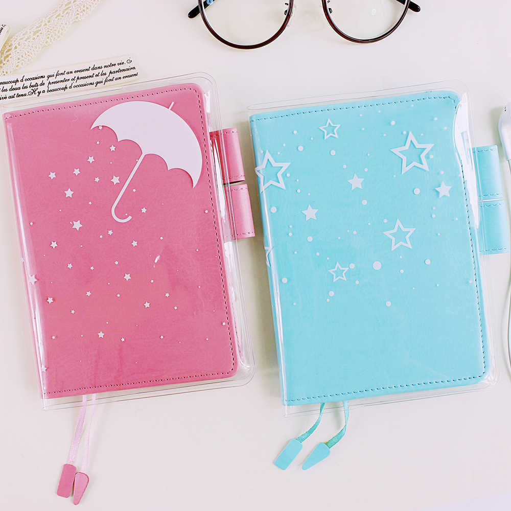 Fromthenon Notebook Pvc Protect Cover For Hobo Planner Cover A5 A6 Diary Book Protective Case School Supplies Stationery
