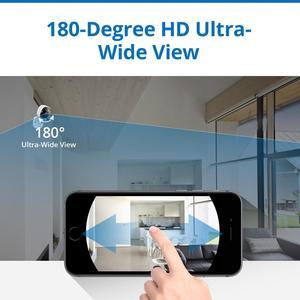 Image 5 - SANNCE 180 degree Wi fi IP Camera HD 1080P Wireless Home Security Camara IR Night Vision Baby Monitor Wifi Mini Network Camara