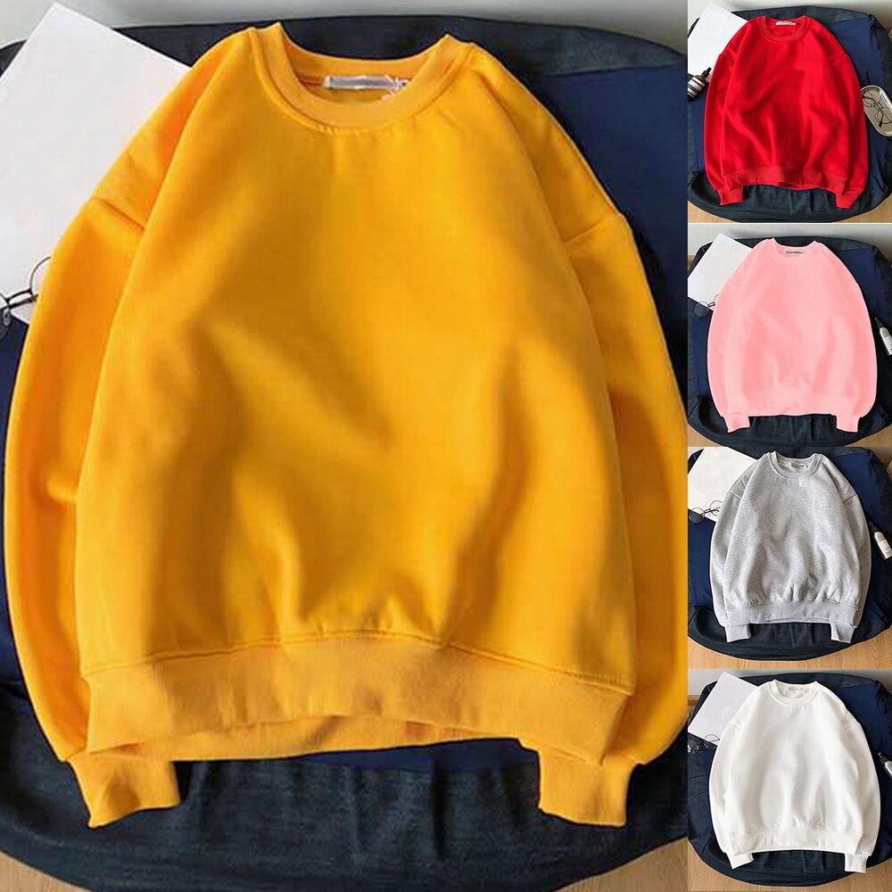 Женская флисовая толстовка с капюшоном, зимняя однотонная хлопковая толстовка с капюшоном 2020, повседневный свободный джемпер, пуловеры, куртки Толстовки и свитшоты      АлиЭкспресс