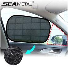 Dobrável janela lateral do carro sol sombra anti reflexo malha pára sol eletrostática adsorção cortinas para carro uv bloqueio de proteção solar