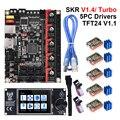 BIGTREETECH SKR V1.4 Turbo BTT SKR V1.4 плата + TFT24 V1.1 сенсорный экран TMC2209 Uart Запчасти для 3D принтера CR10 ender3 V2 обновление