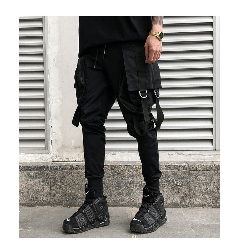 2018 Fashion New Style MEN'S Overalls Youth Harem Pants Skinny Tapered Pants Europe And America Casual Sports Pants K553