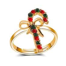 6 шт/партия милые рождественские кольца детские ювелирные изделия