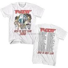 T-shirt homme en métal lourd, Tour de ville à ville USA, 1989, Concert, groupe de Rock