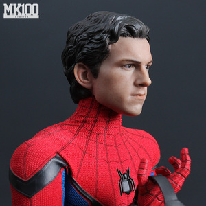 """Image 2 - 1/6 Scale Tom Holland Male Head Sculpt Peter Parker Head Carving  Body For 12"""" DIY Action Figures"""