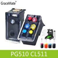 PG510 CL511 Riutilizzabile Cartuccia di Inchiostro di ricambio per Canon PG 510 CL 511 Pixma MP240 MP250 MP260 MP270 MP280 MP480 MP490 IP2700